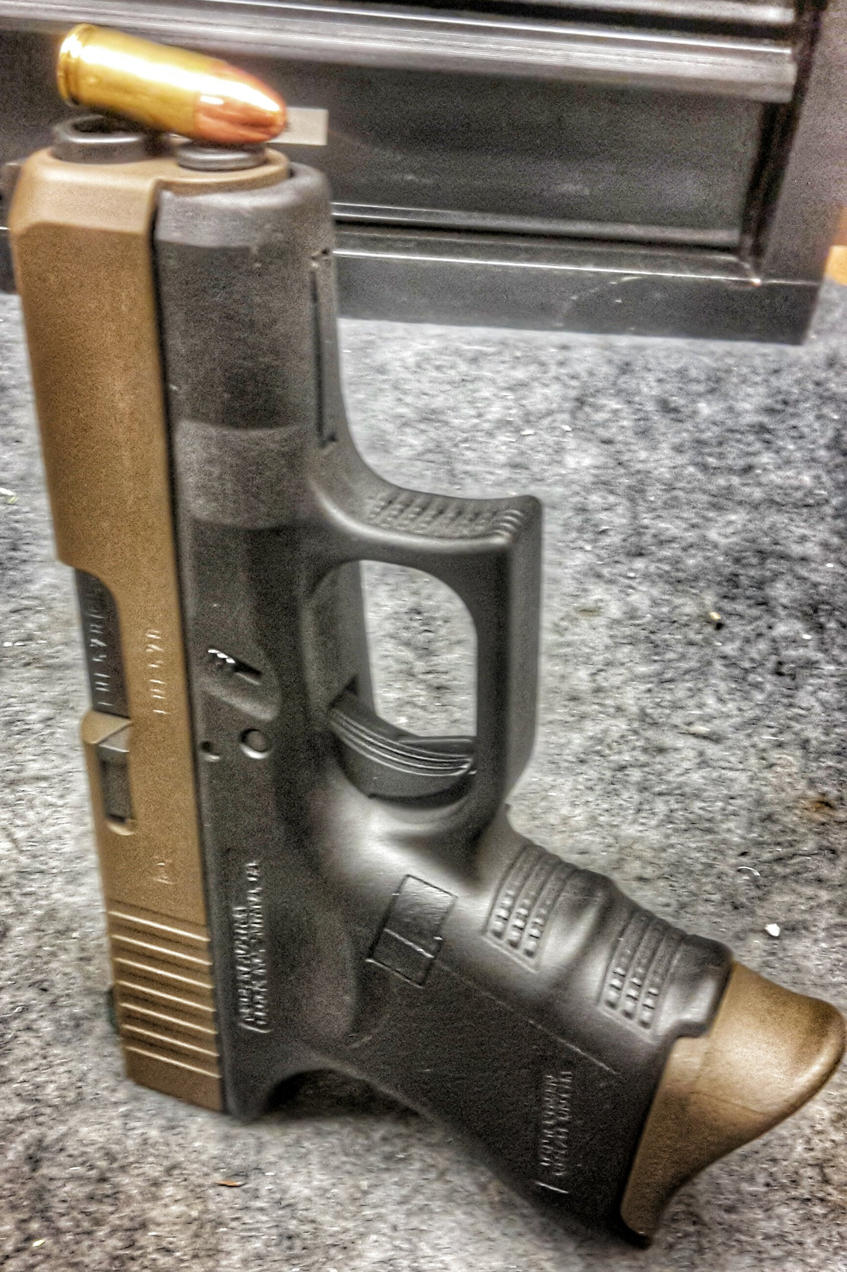 Custom Burnt bronze glock 26