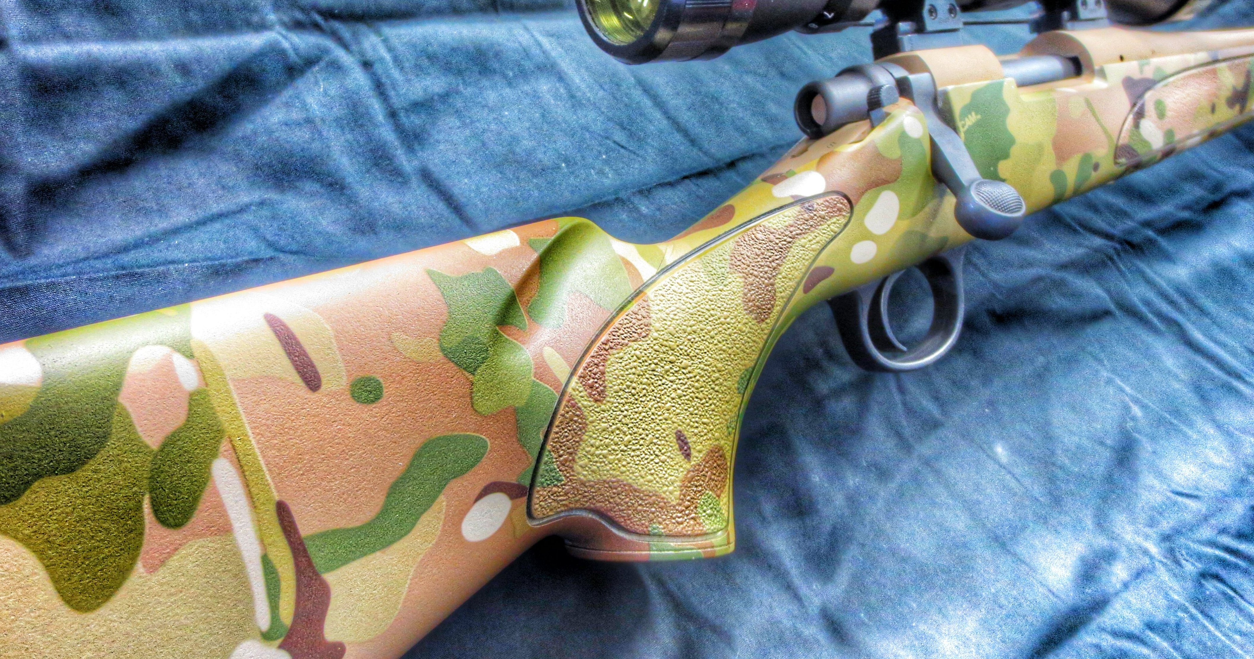 Multicam hydro dip at Dixie Gun Worx