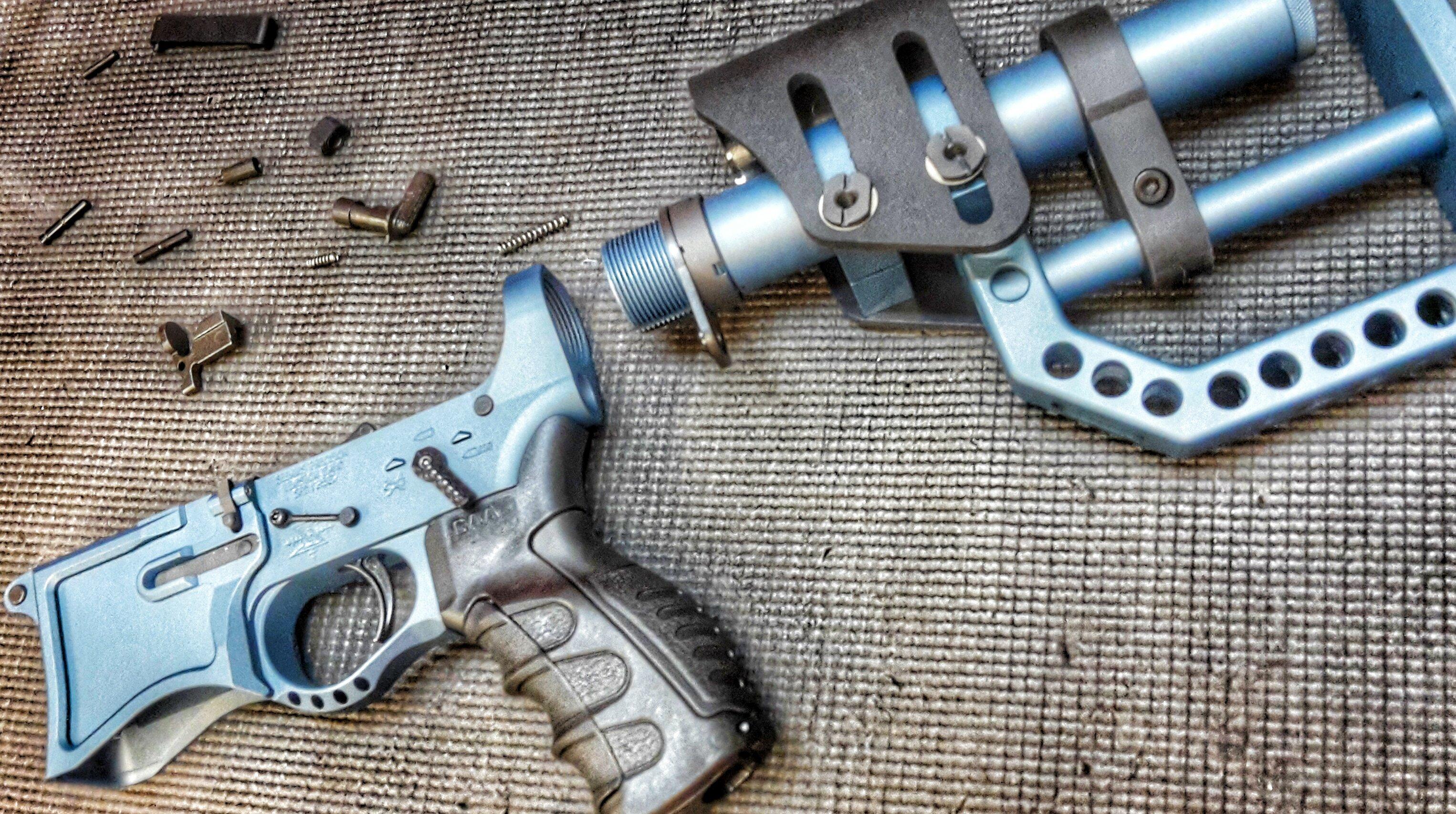 blue titanium ar